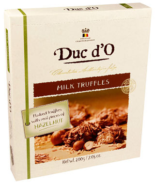 Duc d'O Flaked Milk Hazelnut Truffles