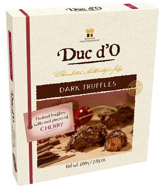 Duc d'O Flaked Dark Cherry Truffles