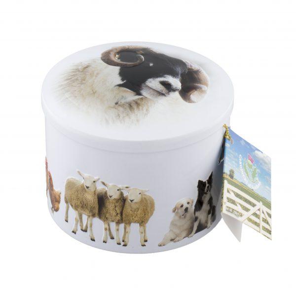 Gardiners Farm Animals Vanilla Fudge Tin