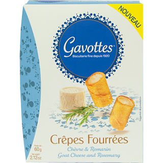 Gavottes Crepe Goat Cheese and Rosemary