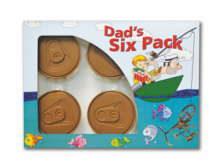 Dad's Six Pack Novelty Chocolates