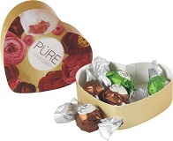 Pure Chocolate 5 piece Heart-shaped selection box