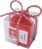 Milk Chocolate Red Heart Cube