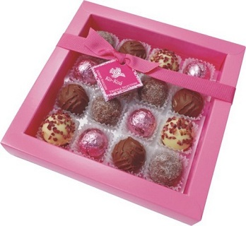 English Truffle Selection 16 Piece Pink Box