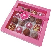 English Truffle Selection 16 Piece Pink Box