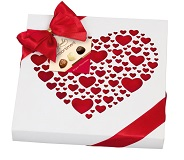 Heart Design Box with Assorted Chocolates