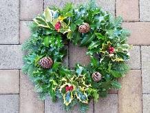 Seasonal Fresh Holly Wreath
