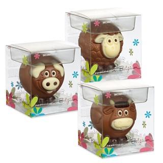 Decorated Belgian Chocolate Animals