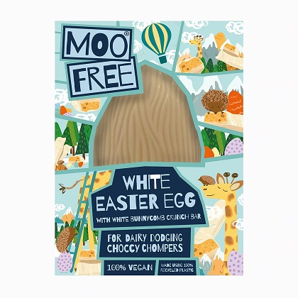 Moo Free Easter Egg with Chocolate Drops