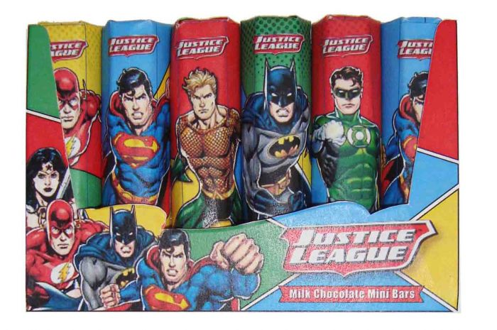 6 Mini Justice League Chocolate Bars