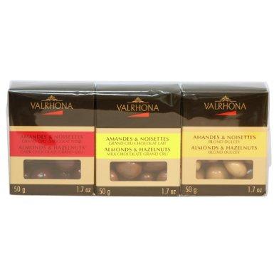 Valrhona Chocolate Almond and Hazelnut Trio