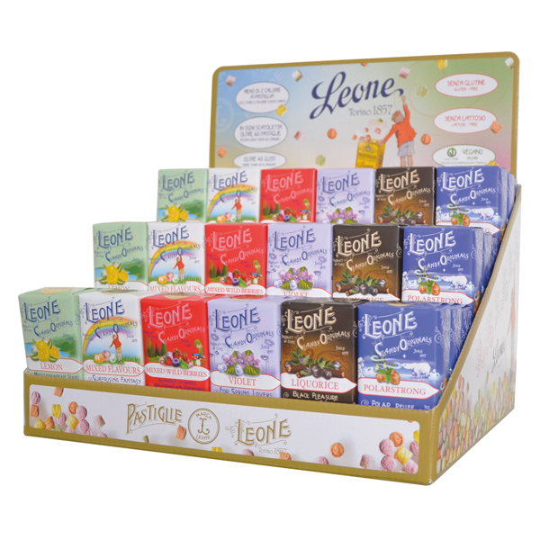 Leone boxes of pastilles Sweet flavours selection