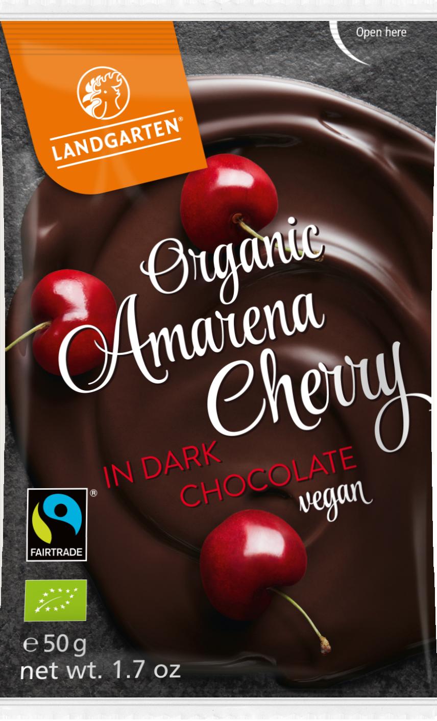 Landgarten's Organic Amarena Cherries in Dark Chocolate Vegan