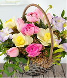 Pretty spring basket