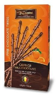 Trianon Orange Milk Chocolate Twigs