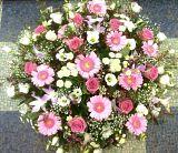Pink Funeral Posy Arrangement