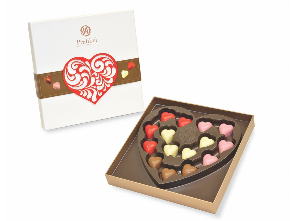 Pralibel Assorted Heart Shaped Chocolates