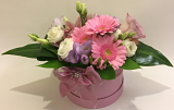 Pink & Lilac Hat Box Arrangement