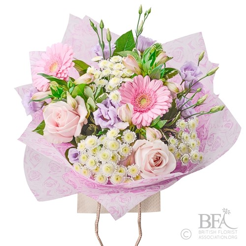 Pastel Pink Hand-Tied Bouquet