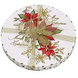 Poinsettia Round Box Filled With Assorted Belgian Chocolates
