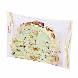 Quaranta Soft Pistachio Nougat Roll Slice