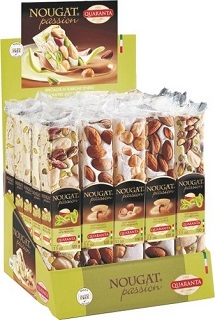 Quaranta soft nougat bars nut selection