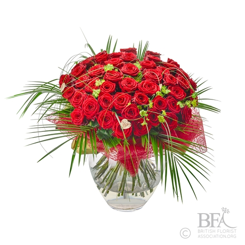 Stunning 48 Luxury Rose Arrangement