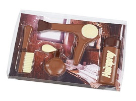 Decorated Chocolate Hairdressing Set