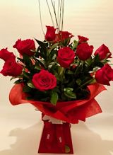 12 Freedom Roses Arrangement