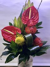 Red Tropical Hand-Tied Bouquet