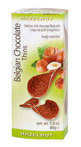 Royal Belgian Hazelnut Flavoured Chocolate Thins