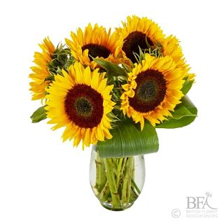 Sunflower And Greenery Arrangement