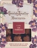 Amatller Milk Chocolate Raspberry Truffle Flowers Soft Pack