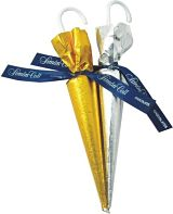 Gold & Silver Chocolate Umbrella