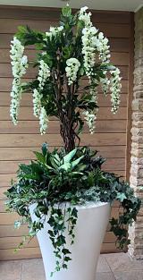 Silk Floral Plant Display