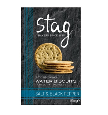 Stag Bakeries Stornoway Salt & Black Pepper Water Biscuits