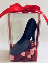 Violet Chocolate Shoe With Small Hearts
