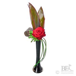 Single Rose Valentines Vase