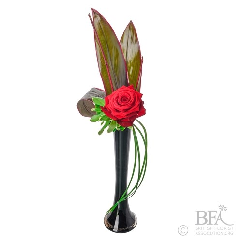 Single Rose Valentines Vase