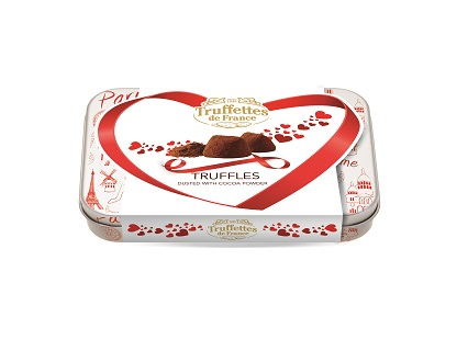French Truffles Valentines Gift Tin