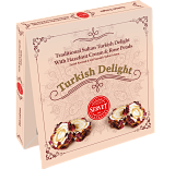 Servet Traditional Sultan Turkish Delight with Hazelnut Cream and Rose Petals