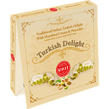 Servet Traditional Sultan Turkish Delight with Hazelnut Cream and Pistachio