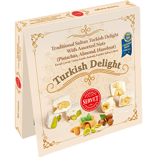 Servat Traditional Sultan Turkish Delight With Assorted Nuts
