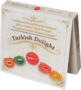 Traditional Assorted Fruit Flavored Wrapping Sultan Turkish Delight   Dated 12/18