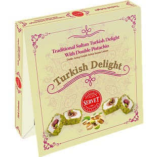 Servet Traditional Sultan Turkish Delight with Double Pistachio