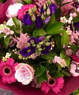 Vivid Pink & Purple Hand-tie Arrangement