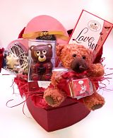 Love Hamper in Heart Shaped Box
