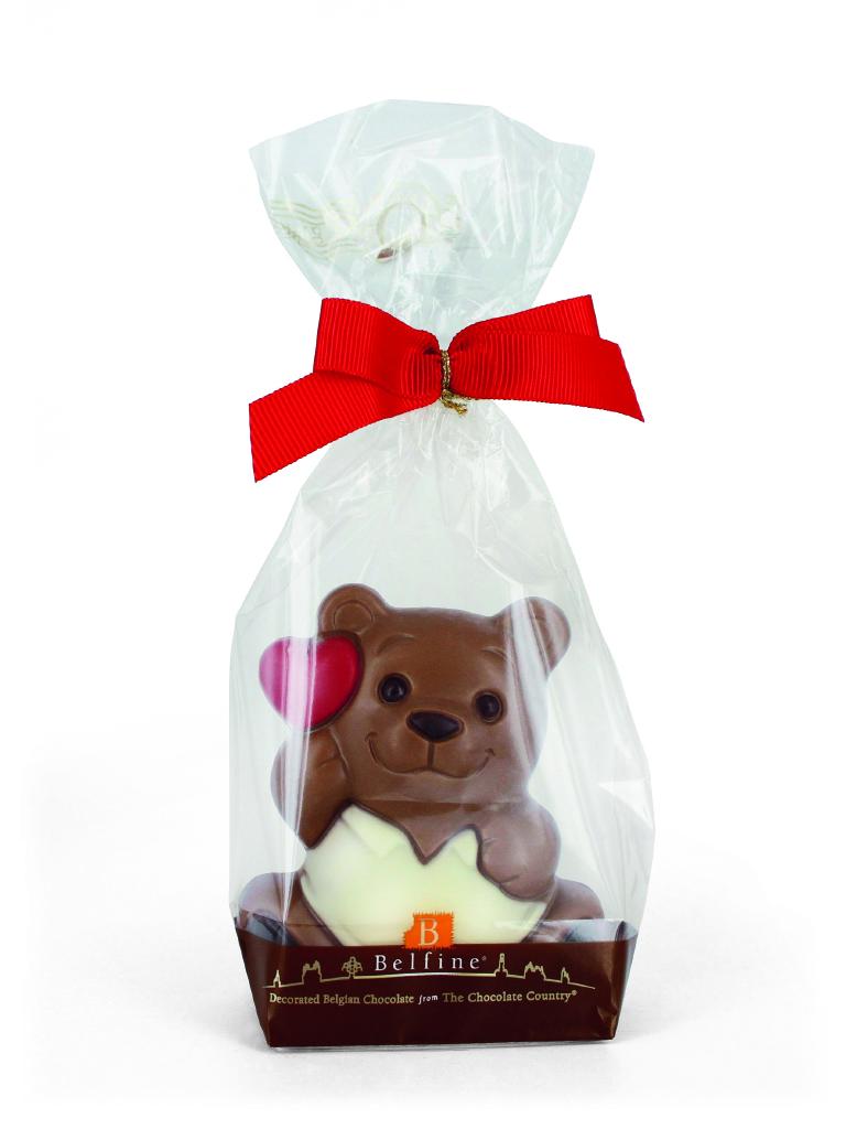 Belfine Chocolate Valentine Bear