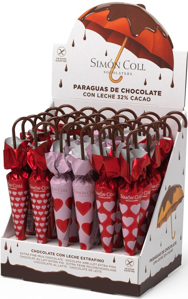 Novelty Valentine's Chocolate Umbrellas