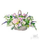 Pastel Wicker Basket Arrangement
